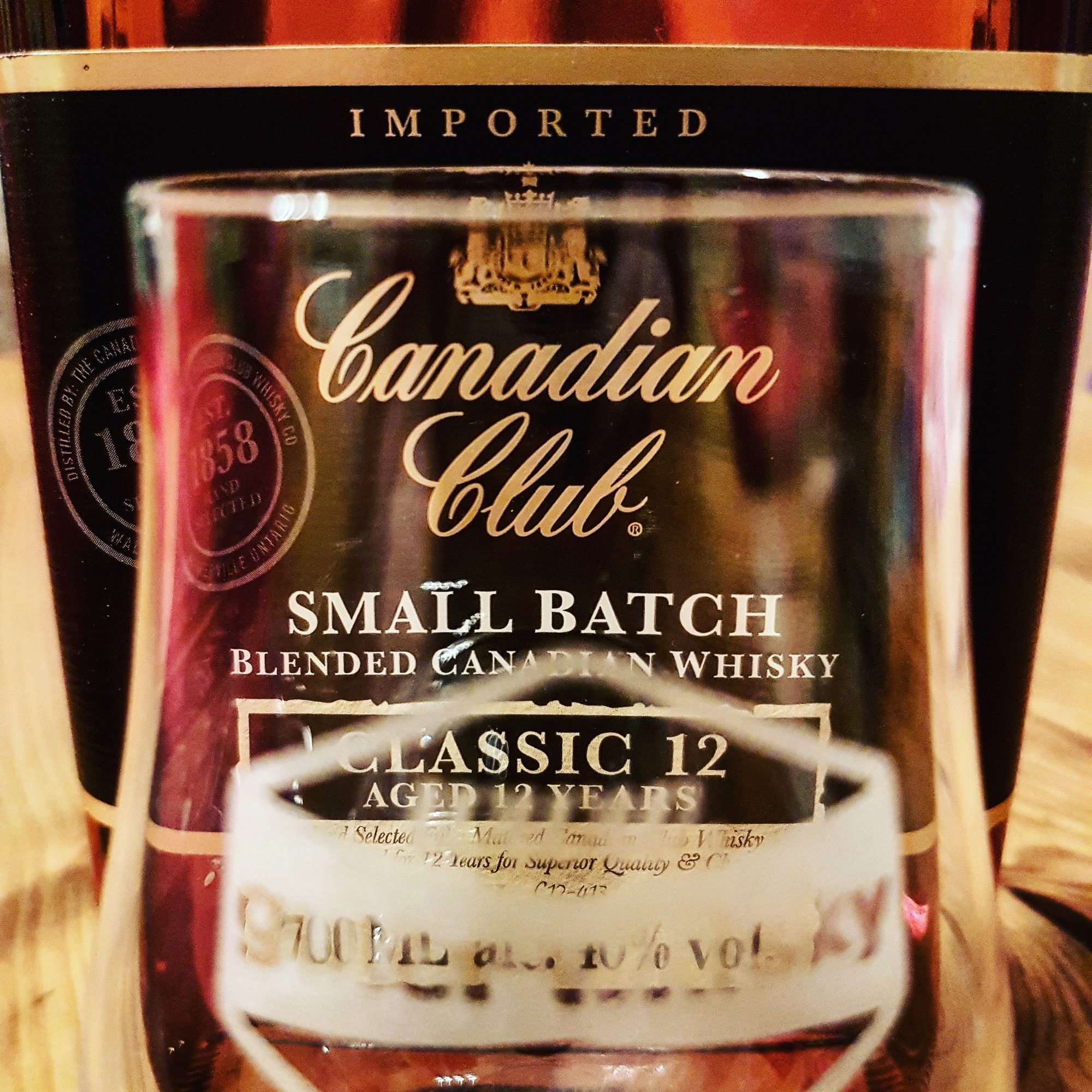 Canadian Club 12 Blended Canadian Whisky Foto