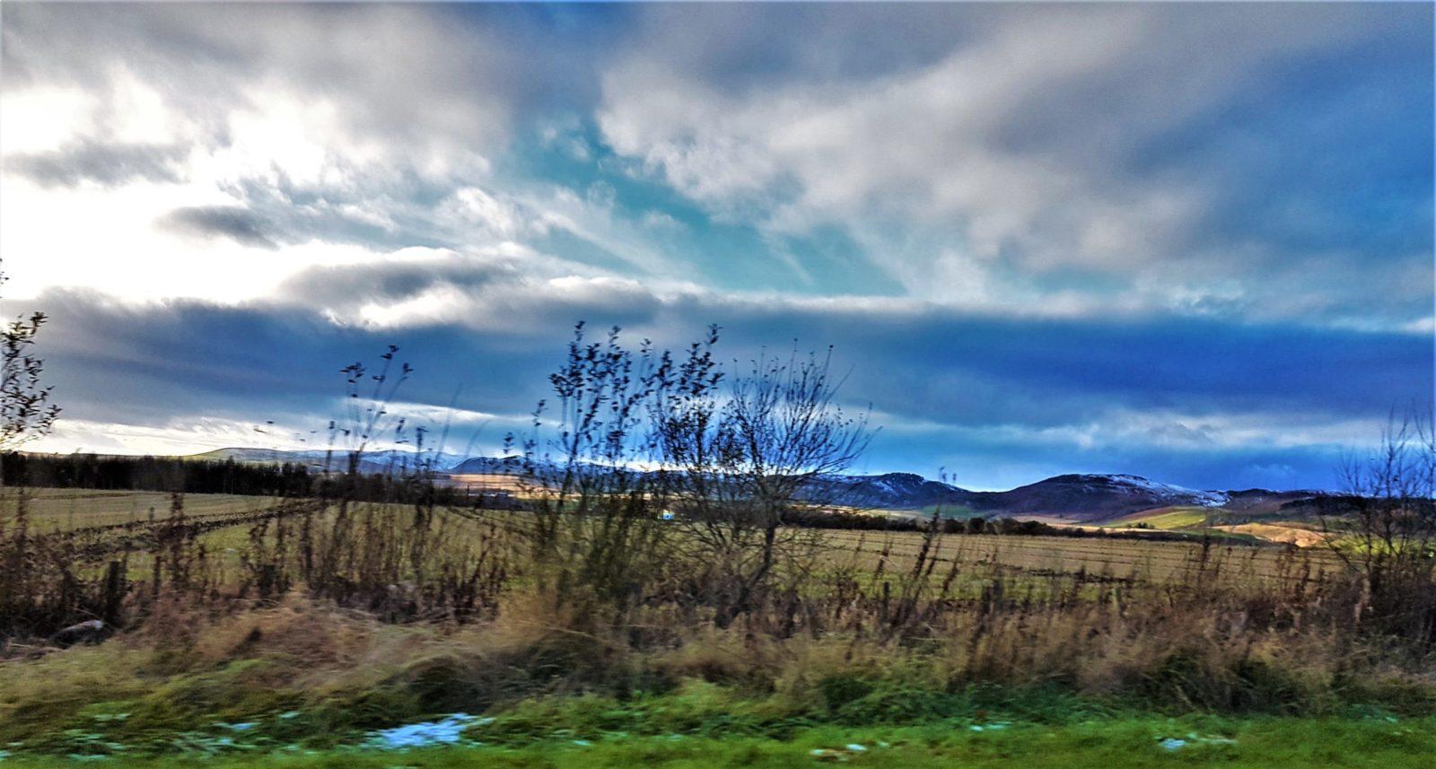 Auf dem Weg zur Dewar's Aberfeldy Brennerei